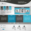 website template - metallic, blue, white, grey colored