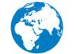 Blauer Planet - Erde - Afrika-Europa-Asien