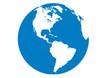 Blauer Planet - Erde - Amerika-Nord-Südamerika