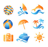 Sea and Summer Travel Icons