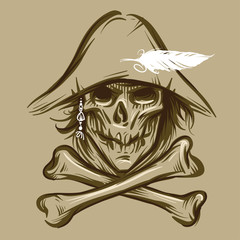 Skull of the pirate