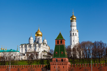Moscow Kremlin Wall and Ivan the Great Bell Tower, Russia