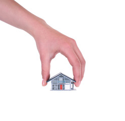 Hand mit Haus