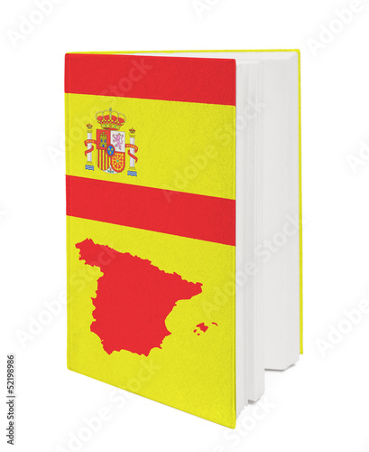Concept. Book with the national flag