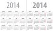 Calendar grid for 2014. Mondays first