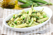 Italian pasta with asparagus and green peas sauce