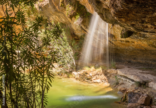 Under Los Charcos Waterfall, near Ontinyent, Spain