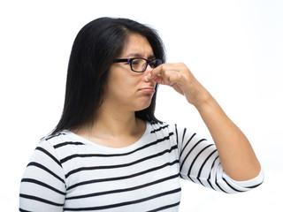 Pinching nose