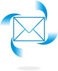 Logo, 3D, Brief, E-Mail, Zeichen, Symbol, Vektor
