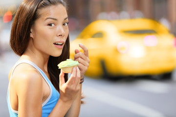 Cupcakes - woman caught eating cupcake snack