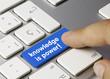 Knowledge is power! keyboard key finger