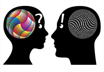 Creativity versus logic, differences in cognition