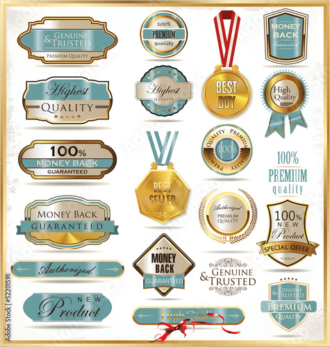Luxury golden labels
