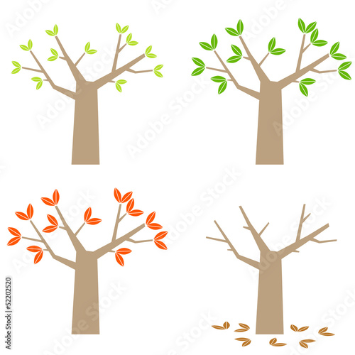 four seasons simple tree