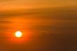 Orange sun with a glow
