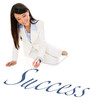 Business woman writing success