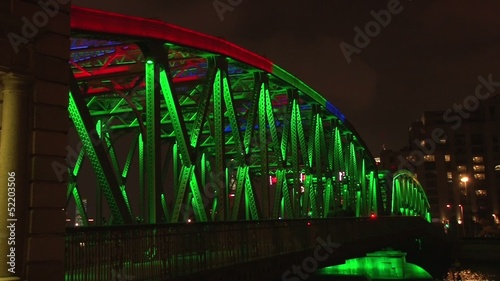 time lapse colorful bridge