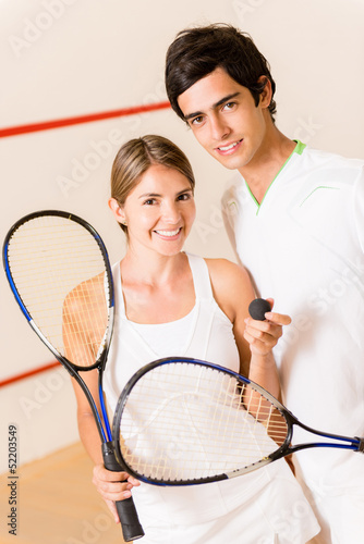 Couple of squash players