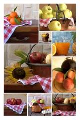collage frutta e verdura