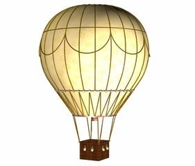 montgolfiere jaune a motif