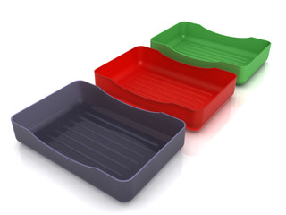 Plastic soap dish does not mirror surface №7