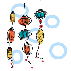 hand drawing lantern