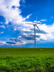 Wind turbine - white energy
