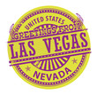 Stamp with text Greetings from Las Vegas, Nevada, vector