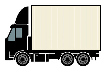 Delivery truck, vector illustration