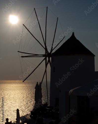 Fototapeten,mahlwerk,wind,oia,santorini