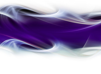 Abstract gentle white waves on violet background