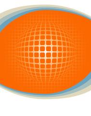 Digital globe with copy space.