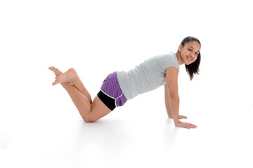 Girl in Yoga Pose