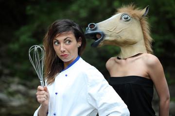 Chef con cavallo