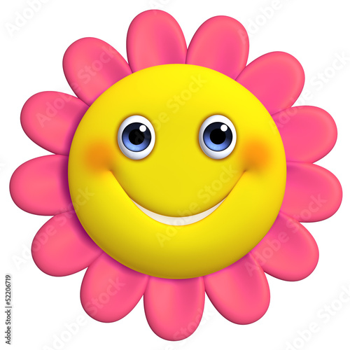 3d cartoon cute flower