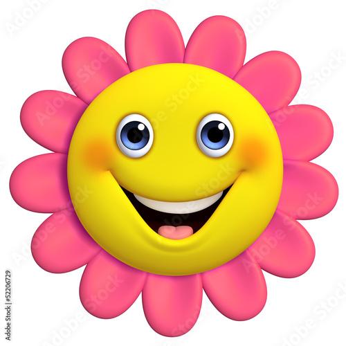 Fotobehang Sweet Monsters 3d cartoon cute flower