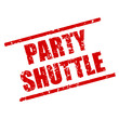 stempel eckig party shuttle I