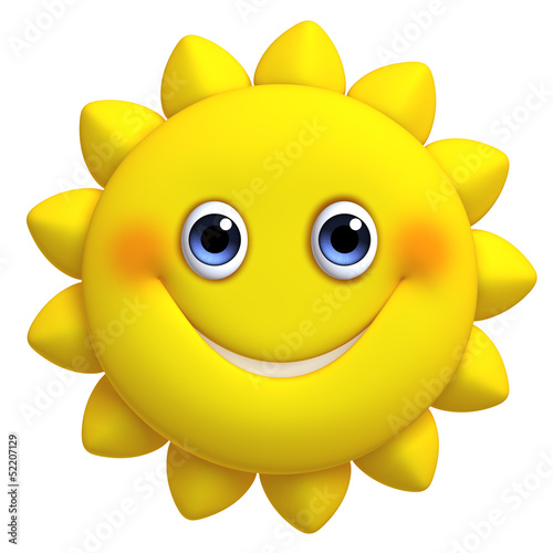 3d cartoon cute sun