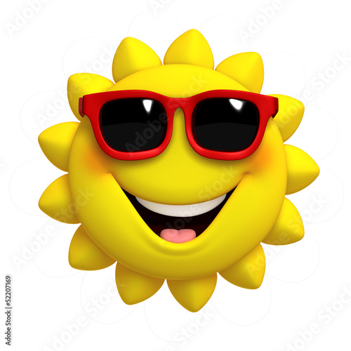Fotobehang Sweet Monsters 3d cartoon cute sun