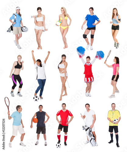 Various sports people