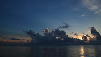 Beautiful sunrise seascape and cloud, TimeSlaps