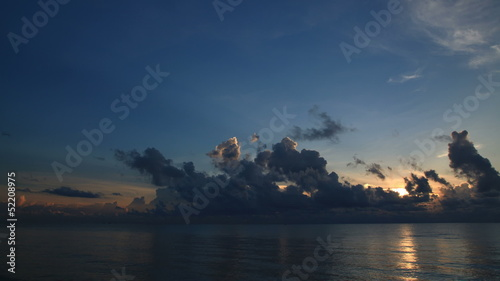 Beautiful sunrise seascape and cloud, TimeSlaps
