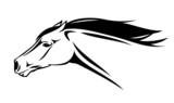 running horse head vector illustration