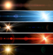 Abstract web banner light