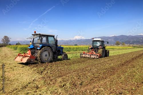Fototapeten,traktor,ausstattung,feld,landen