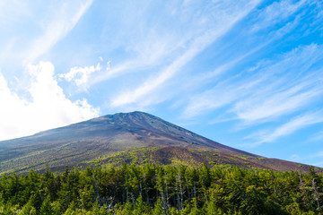 Fuji Mountain without snow