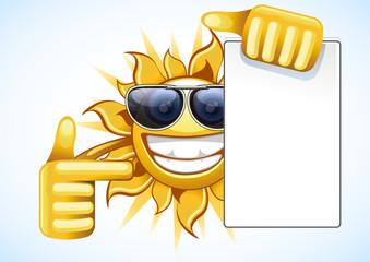 summer sun with list