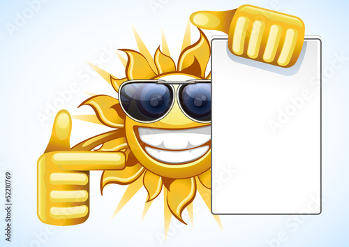 summer sun with list