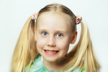 Smiling child - cute face, portrait