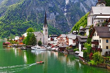Hallstatt - small pretty villge of Alps. Austria